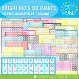 Bright Hundreds Charts + 120 Charts - Clipart for Commercial Use