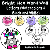 Bright Idea Word Wall Letters (Bright Watercolors & Black