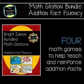 Bright Ideas Bundled Math Stations:  Addition Fact Fluency