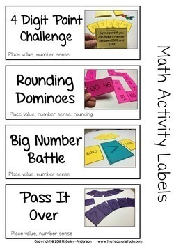 Bright Ideas Bundled Math Stations: Place Value Games and Centers