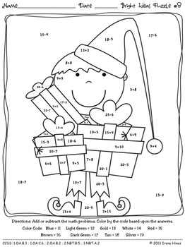 Christmas Math Activities Bright