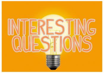 Bright Ideas + Interesting Questions Bulletin Board Display Headings