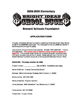 Bright Ideas Mini Grant