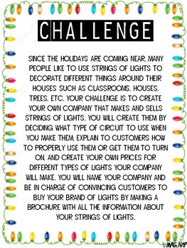 Bright Ideas Performance Task: Electrical Circuits & Multiplication