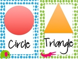 """Bright Jungle Animal Theme-Wild About Learning-""""Shapes"""""""