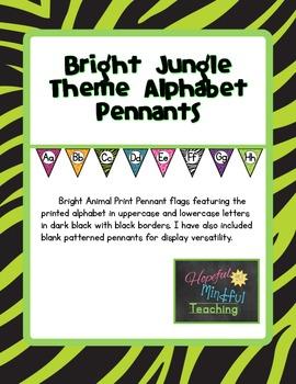 Bright Jungle Theme Alphabet Pennants