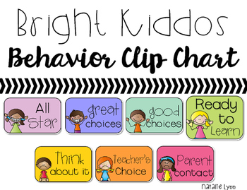 Bright Behavior Clip Chart with kiddos