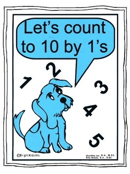 Bright Kids Count from 1 to 10 POWER POINT PRESENTATION with flashcards!!