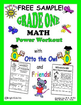 Bright Kids Grade 1 Math Power Workout - FREE SAMPLE!