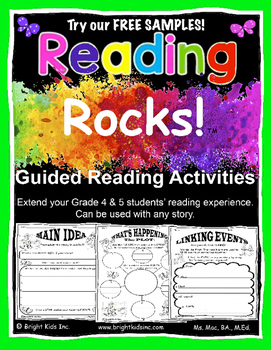 Reading Rocks Grade 4 & 5 Guided Activities - Free Sample