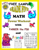 Bright Kids Grade 5 MATH Power Workout - Just Print and TEACH!! FREE SAMPLE!