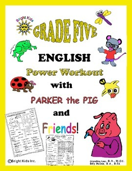 Bright Kids Grade Five English Power Workout - Save Time! Just Print & Teach!