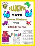 Bright Kids Grade Five Math Power Workout - Save Time! Just Print & Teach!