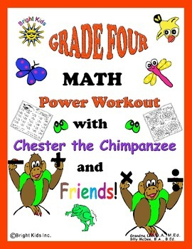Bright Kids Grade 4 Math Power Workout - Save Time! Just Print & Teach!