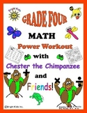 Bright Kids Grade 4 Math Power Workout - Save Time! Just P