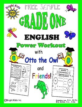 Bright Kids Grade 1 English Word Power Workout - Save Time