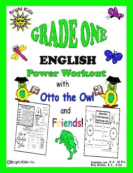 Bright Kids Grade 1 English Word Power Workout - Save Time! Just Print & Teach!