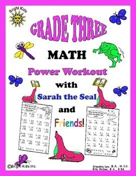 Bright Kids Grade 3 Math Power Workout - Save Time! Just Print & Teach!