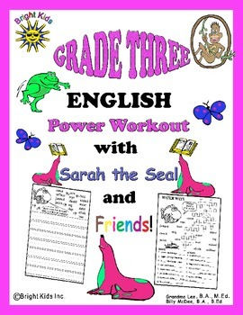 Bright Kids Grade 3 English Word Power Workout - Save Time! Just Print & Teach!