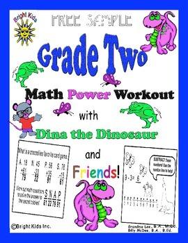 Bright Kids Grade Two Math Power Workout - Free Sample!
