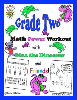 Bright Kids Grade 2 Math Power Workout - Save Time! Just P