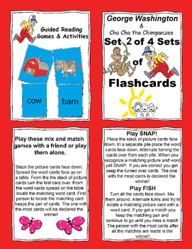 Bright Kids Guided Reading Flash Cards - George Washington - FREE SAMPLE!!