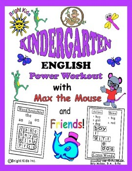 Bright Kids Kindergarten Word Power Workout - Save Time! Just Print & Teach!