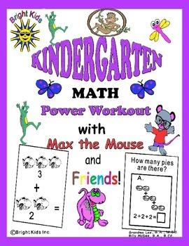 Bright Kids Kindergarten Math Power Workout - Save Time! Just Print & Teach!