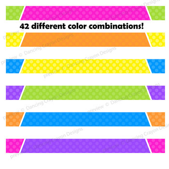 Bright Kids Page Dividers Clip Art | Page Headers