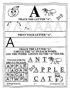 Bright Kids Preschool Word Power Workout - Save Time! Just Print & Teach!