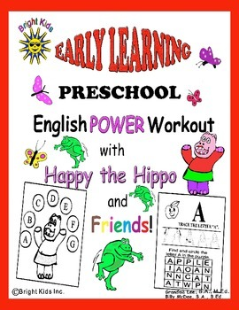 Bright Kids Preschool Word Power Workout - Save Time! Just