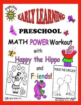 Bright Kids Preschool Math Power Workout - Save Time! Just Print & Teach!