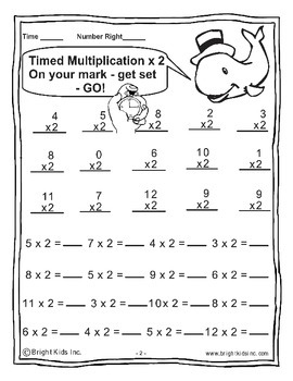 Bright Kids Timed Multiplication - SAVE TIME! JUST PRINT & TEACH!