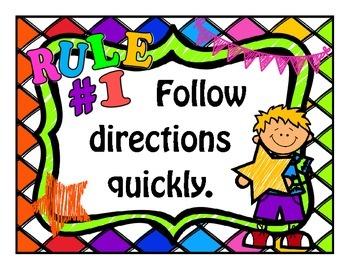 Bright Kids Whole Brain Teaching Class Rules