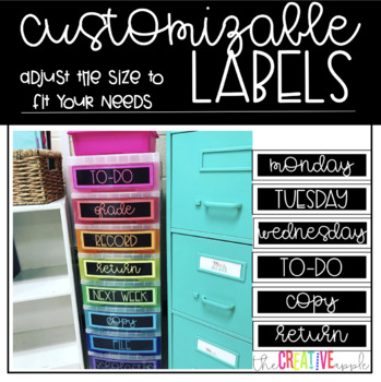 Bright Labels: Customizable Labels