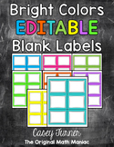 Bright Labels EDITABLE