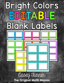 Bright Labels EDITABLE