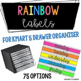 Bright Labels for Kmart 5 Drawer Organiser {75 options!}