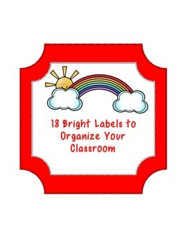 Bright Labels for your Classroom