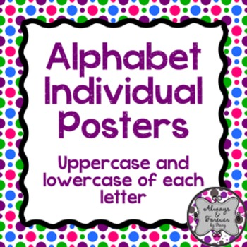 Bright Large Alphabet Letters!