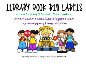 Bright Library Book Labels