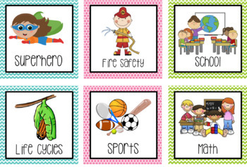 Bright Library Labels for Primary Classroom