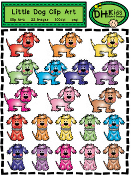 Bright Little Dog Clip Art - Personal and Commercial Use