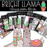 Bright Llama EDITABLE Classroom Decor GROWING BUNDLE