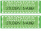 Bright Loopy Name Tags -Editable