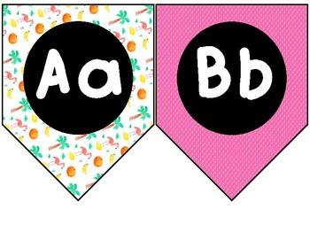 Bright Luau Alphabet Pennants