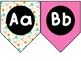 Bright Luau Alphabet Pennants