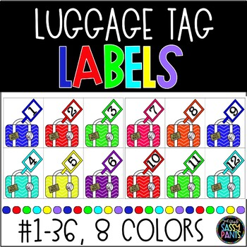 Bright Luggage Tag Number Labels