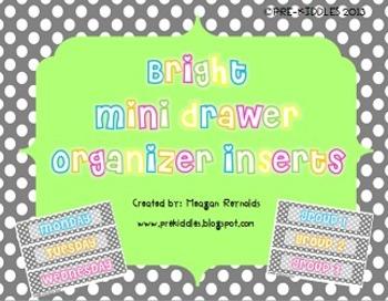 Bright Mini Drawer Organizer Inserts
