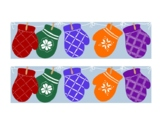Bright Mittens Winter Bulletin Board Border Printable Full Color PDF January